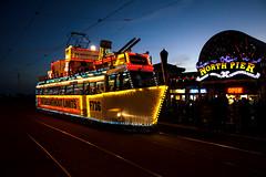 Frigate 736 North Pier (Nigel Gresley) Tags: sunset tower seaside fireworks balloon illuminated frigate trams blackpool trawler 701