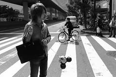 Osaka (fabiolug) Tags: street leica people blackandwhite bw haircut guy monochrome lines fashion bike bicycle japan 35mm hair bag japanese blackwhite asia crossing streetphotography hairdo rangefinder summicron mickeymouse osaka monochrom biancoenero leica35mm leicam 35mmsummicronasph leicasummicron summicron35mmf2asph 35mmf2summicronasph summicronm35mmf2asph mmonochrom leicammonochrom leicamonochrom