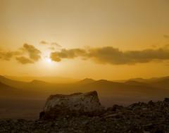 Fuerteventura Sunset (Rich1078346) Tags: sunset mountains 120 tlr film roll