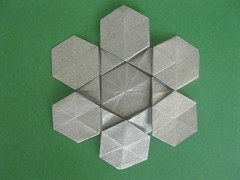 Robby Kraft's Snowflake Fractal Base (or maybe not) (georigami) Tags: paper origami papel papiroflexia origamiforum