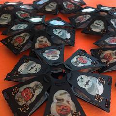 Lanterns in Repose (bindlegrim) Tags: 1920s orange halloween silhouette paper pumpkins german lanterns flapper six jackolanterns vintagestyle signed artlimitededition