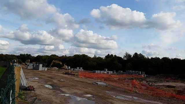 It's a quiet day over at the construction site for 2015's Enchanted Forest development. The scale of the area covered is substantial !