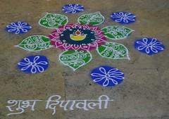 Rangoli (diariesofatraveler) Tags: india maharashtra diwali rangoli muwci diariesofatraveler