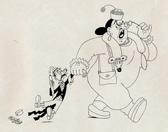 Albert Dubout Album 1944  cartoon  no title