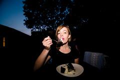 _MG_0589-391 (k.a. gilbert) Tags: cake night dark outside outdoors evening darkness eating fork birthdayparty handheld kelly fullframe milf speedlight 116 uwa oncameraflash tokina1116mmf28 canon430exii ettl2 canon5dc mallonshouse