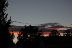 October 4, 2014 - A gorgeous sunset in Thornton. (LE Worley)