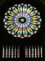 Strasbourg (vittorio vida) Tags: light france church window glass colors temple europe stainedglass strasbourg vetrata rosewindow