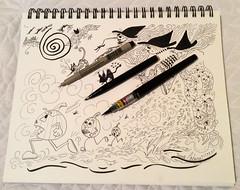 "Oct 7/14 #inktober  #halloween  ""Witch-Hunt""   2014 Donna Coburn (donnacoburn1) Tags: original halloween illustration sketch drawing witch unique doodle witchy inktober donnacoburn"