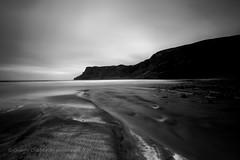 Black Sand (Giorgio Chessari) Tags: from sunset seascape black skye bay scotland sand nikon long exposure highland gradient nikkor volcanic isle regnounito giorgio talisker carbost d610 500px 1424mm chessari