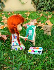 Painting ^^ (Julyandme) Tags: berry doll danbo jerryberry danboard