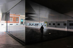Reflections Everywhere (Jocey K) Tags: madrid people building reflections spain caixaforum archtiecture industrialarchitecture caixaforummuseummadrid