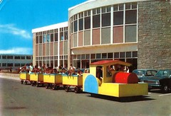 Pontins Camber Sands Holiday Camp c1971 (trainsandstuff) Tags: vintage cambersands retro archival roadtrain pontins holidaycamp fredpontin