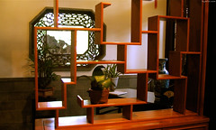 "Labyrinthine wooden shelf with potted plants • <a style=""font-size:0.8em;"" href=""http://www.flickr.com/photos/34843984@N07/15542628841/"" target=""_blank"">View on Flickr</a>"