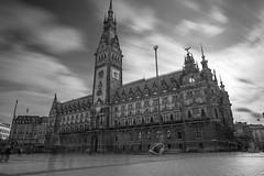 Hamburg Town Hall (julius.prinz) Tags: city longexposure sky blackandwhite bw clouds cityhall hamburg townhall hdr