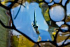 Through Stained Glass (JeffStewartPhotos) Tags: ontario canada church stainedglass steeple photowalk knox presbyterian elora kelby knoxpresbyterian knoxpresbyterianchurch worldwidephotowalk kelbyone wwpw2014 eloraferguson20141011