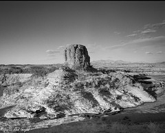Around the Bend (magnetic_red) Tags: monument landscape desert wash lakemead rodinal fp4 pentax67ii