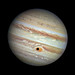 Hubble Spies Spooky Shadow on Jupiter's Giant Eye (color)