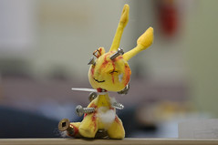 Uh... (caribb) Tags: stuffedtoy yellow closeup work toy screws japanese blood release alien attack strangle psycho frustration stab stress strangled colleague fuckedup stabbed screwed attacked japanesetoy 2014 messedup mindset stresstoy stressrelease stressreleaser c365 simulatedblood frustrationtoy