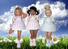 Cuties in summer (Alea Lamont) Tags: summer baby girl socks kids hair children us toddler shoes doll dress mesh avatar style dresses r babydoll toddlers cuties diva dva kidsrus ndmd