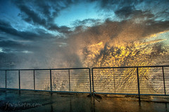 Des Moines Marina (fovphotos.com) Tags: sonya6000 rokinon 12mm desmoines sunset waves gusty