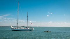 Nautical workout..... (AJFpicturestore) Tags: sailing boat ketch row rowing donaldsearle hurstcastle solent alanfoster