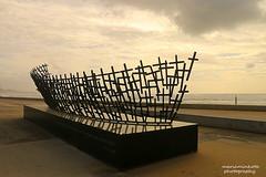 Memorial (mariaminhota) Tags: portugal portugalbeaches viladoconde boat sculpture crosses memorialtotheshipwrecked memorial atlanticocean ocean sea boatsculpture mariaminhotaphotography canoneos70d canonlens travel platinumheartaward