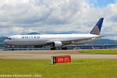 N77066 (renanfrancisco) Tags: united unitedairlines ua ual n77066 boeing boeing767 767 767400 764 landing pouso gru sbgr gruairport guarulhosairport aeroporto airport airlines aeropuerto spotting staralliance boeing767400