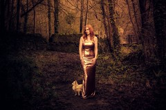 Woodland Walk (sophie_merlo) Tags: beauty redhead woods ginger wood forest red landscape model location bristol dog