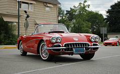 1959-1960 Chevrolet Corvette (SPV Automotive) Tags: 1959 1960 chevrolet corvette c1 roadster convertible classic sports car red