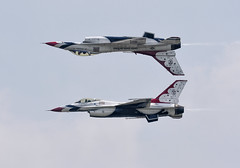 """5/6"" (Jill Bazeley) Tags: usaf united states air force demonstration squadron thunderbirds calypso pass formation forms melbourne florida space coast brevard county show nikon d7200 f16 f16c jet airplane aircraft aerobatic"