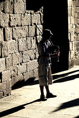 Celtic music (natalia.grubio) Tags: galicia musica music músico gaita celta celtic light luz shadow sombra contraste sonido sound street calle