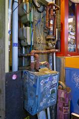 Pipes & Wires (Mondmann) Tags: pipes wires plumbing wiring graffiti restaurant seoul itaewon korea southkorea rok republicofkorea asia eastasia mondmann canonpowershotg7x
