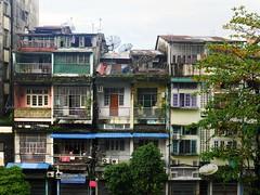 Downtown Yangon (TheSailingBee) Tags: downtown yangon colorfulhouses streetphotography myanmar