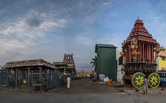 Triplicane Parthasarathy Temple (Logesh Photostream) Tags: chennai triplicane parthsarathytemple morning theerthavarifestival nikon panorama beautifulchennai india