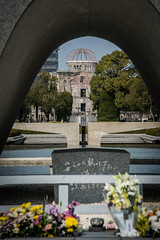 The cenotaph memorial to the victims of the Atomic bomb that exploded over Hiroshima. (tommcshanephotography) Tags: abomb asia atomicbomb cenotaph hiroshima japan memorial travel ww2 war bomb