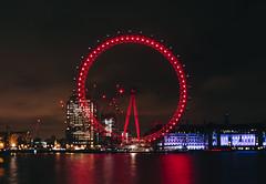 London Eye (Calvin J.) Tags: londoneye london england city cityscape architecture riverthames canon 5dmarkiii tse24mmf35lii longexposure tiltshift vsco night primelens reflection