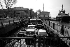 fisher shelter (omerbaykal) Tags: old fishing shelter ship new turkey istanbul culture history travel sea seaside black white bosphorus mixed life view