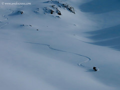 first turns of the season skiing argentina