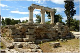 Ancien Corinthe - Temple d'Octave - (Grèce).