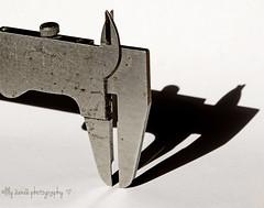 Caliper shadow (aenee) Tags: aenee madeofmetal nikond7100 sigmadgmacro105mm metal caliper whitebackground shadow black tool dsc1086 20170310