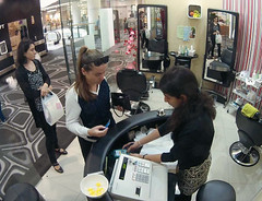 Beauty Shop (Midnight Believer) Tags: beautyshop beautician shoppingmall ladies candid indoors