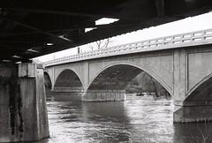 Winters CA (aaronboxes) Tags: 35mm train bridge winters california nature river creek putah water trees