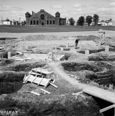 Constructing the fountain, The North Common (Halifax Municipal Archives) Tags: halifax novascotia canada archives history greenspace urbanplanning landscaping fountain park play roads