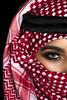 Red Rose (DesertWindsPhotography) Tags: red white black love makeup art photography greeneyes eyebrows culture tradition arabia saudiarabia qatar bahrain kuwait emirates desert eyes women veil عيون السعودية الكويت الإمارات الشماغ