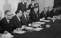 President Ayub with his ministers (Doc Kazi) Tags: president ayub khan muhammad pakistan history end regime talks 3 march 1969 all leading politicians except bhutto