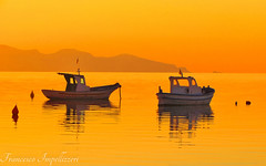 Together (Francesco Impellizzeri) Tags: trapani sicilia sunset boats water reflections