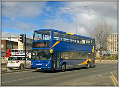 17632, Canterbury (Jason 87030) Tags: dennis trident bus magicbus stagecoach 9 canterbury april nokia limia 930 2016 holiday disaster damaged w632rnd alx400 blue kent uk manchester former vehicle doubledecker