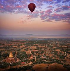 aerial bagan balloons burma holidays lightroom myanmar onestoptraveltours pagodas topazlabs