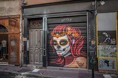 Toulouse. (Jérôme Cousin) Tags: nikon d700 tamron 2470 28 toulouse haute garonne 31 ville rose calavera paint painting art tete de mort mexico mexicaine