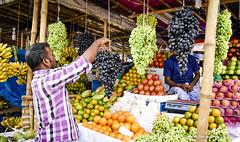 | FRUIT MARKET - Meradia, Dhaka, Bangladesh | (iam_aanwar) Tags: fruits grapes apple orange banana shop outdoor